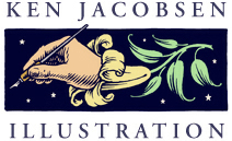 Ken Jacobsen Illustration Logo